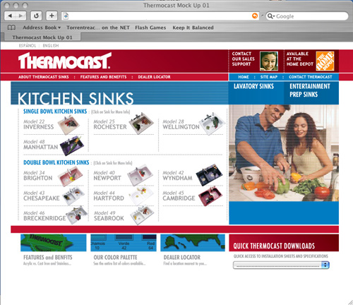 Thermocast International - Cast Acrylic Sinks Sold Exclusively at The Home Depot 2